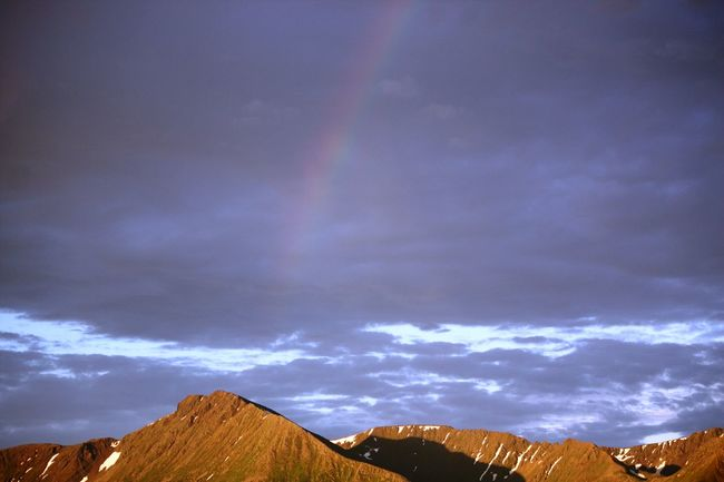 somewhere over the rainbow .... skies are blue ... Amazing Canon450d Clearsky Hope Life Mountains Rainbow Sky