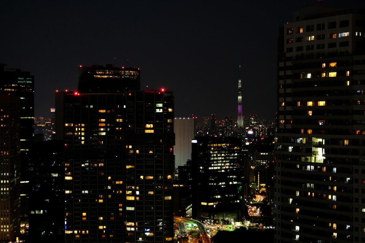 世界貿易センタービル/World Trade Center BLDG, Tokyo Architecture Building Exterior City Cityscape Fujifilm Fujifilm_xseries Illuminated Japan Japan Photography Modern Night Night View No People Skyscraper Skytree Tokyo X-t2 スカイツリー