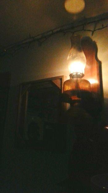 Power Outage Oil Latern Heavy Rain Kansas Storms Farm Life Barbwire Border Barnwood Mirror Interior Design