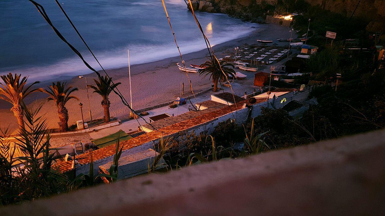 Relaxing Night View Night Photography Mediterranean  SPAIN Sea View Mar Playa Beach Nerja Coast