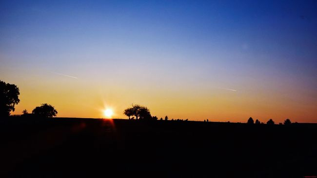 Field under Sunset Eschwege
