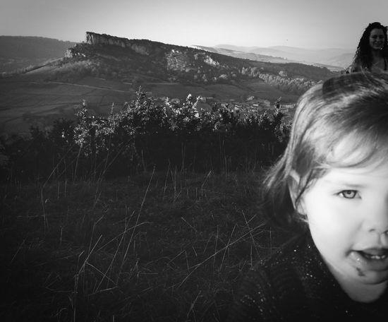 My Daughter Baby Grow Up Roche De Solutré Landscapes Paysages Bourguignons Black & White Mother & Daughter