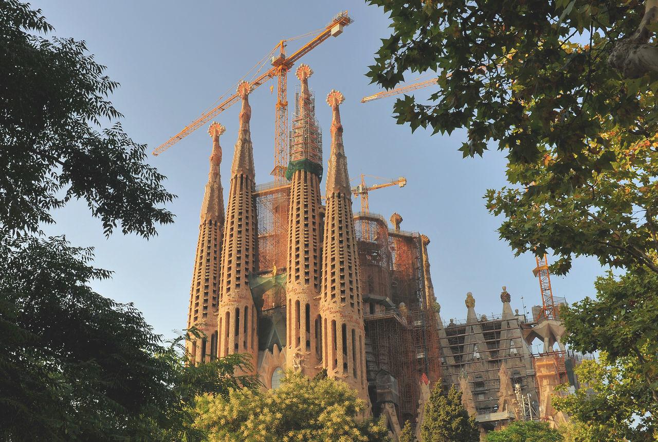 The Basílica i Temple Expiatori de la Sagrada Família is a large Roman Catholic church in Barcelona. Architecture Barcelona Barcelona, Spain Built Structure Construction Construction Site Keith Morgan Religion Sagrada Familia Sagradafamilia