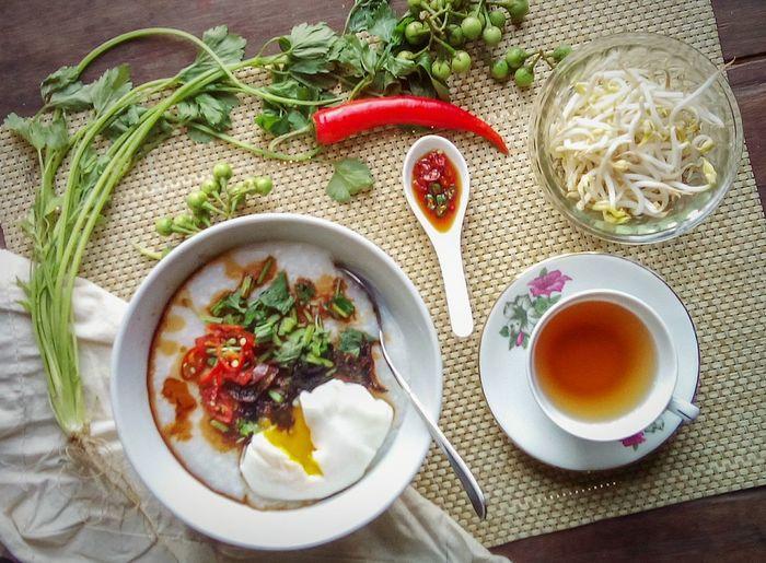 Nasi dah jadi bubur. #SimplePhotography #food #tea #morning #cup Food And Drink Ready-to-eat