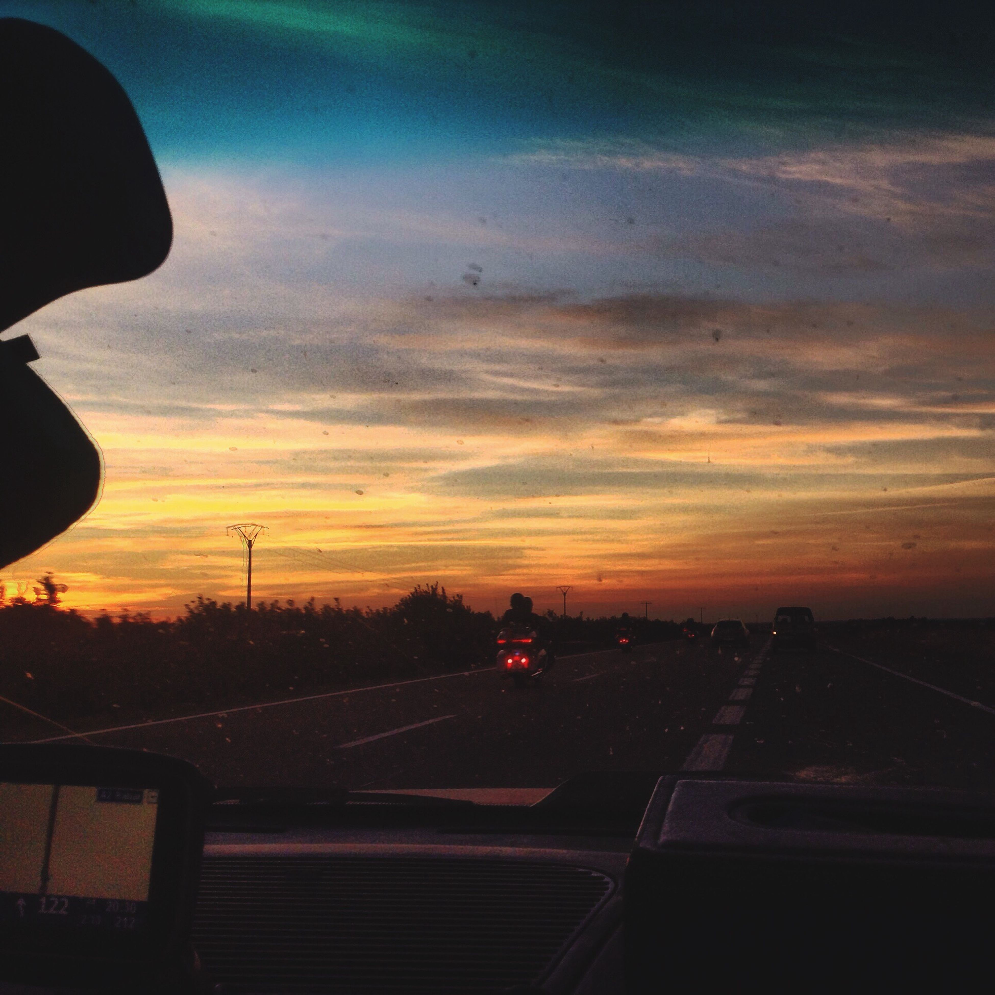 Highway E34 Bmw Harleydavidson Sunset Travel Destinations Outdoors Roadtocasablanca
