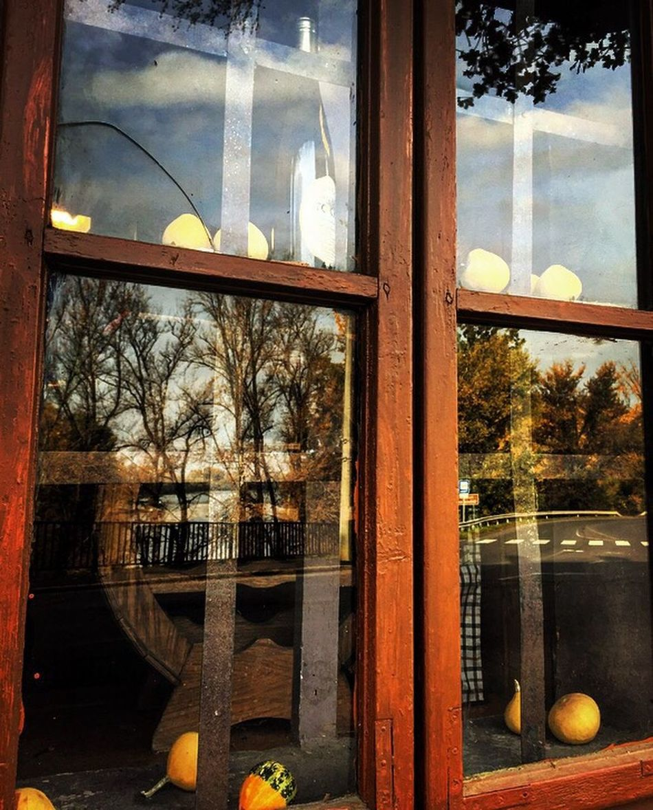 Walk Roud Window Mirror Pumpkin Wine