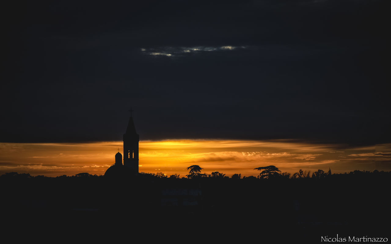 sunset, sky, silhouette, architecture, cloud - sky, religion, built structure, building exterior, no people, travel destinations, nature, place of worship, history, beauty in nature, outdoors, scenics, spirituality, night
