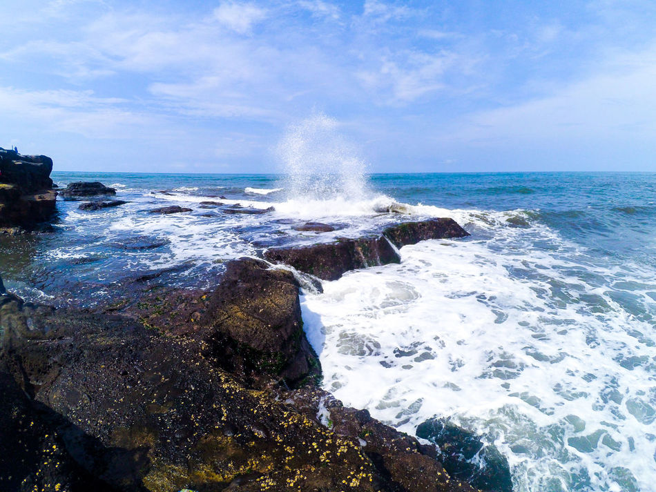 Bali Seaside Beauty In Nature Cliffside Cloud Cloud - Sky Day Horizon Over Water Idyllic Motion Nature Non-urban Scene Outdoors Power In Nature Rock - Object Rock Formation Scenics Sea Seascape Shore Sky Splashing Tranquil Scene Tranquility Water Wave
