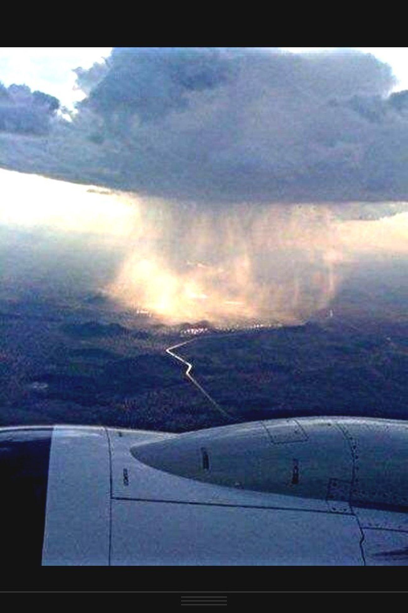 Así se ve la lluvia desde un avión!