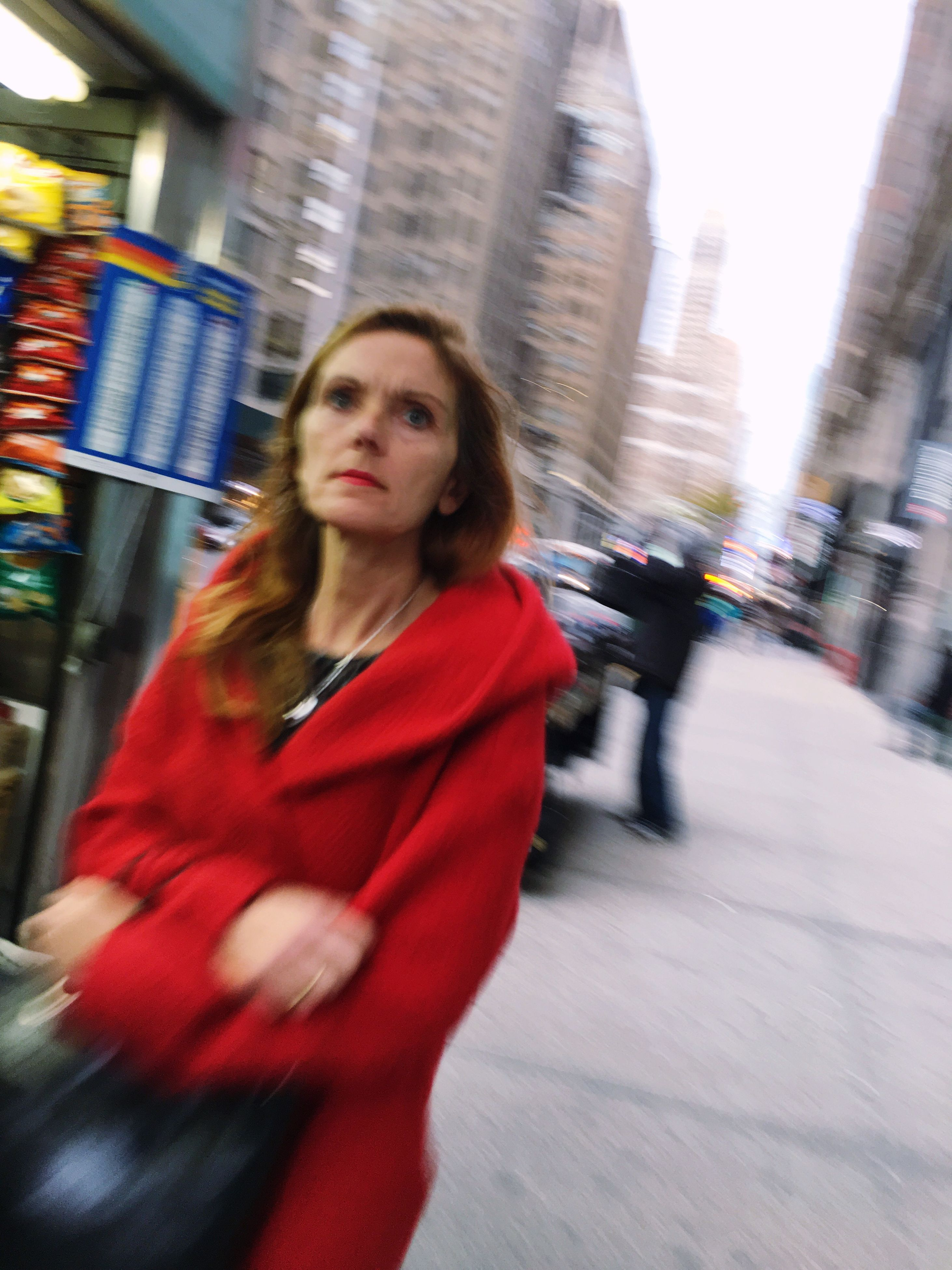 blurred motion, city, street, motion, young adult, skyscraper, building exterior, real people, built structure, multi colored, one person, architecture, outdoors, speed, young women, beautiful woman, people, day, adult