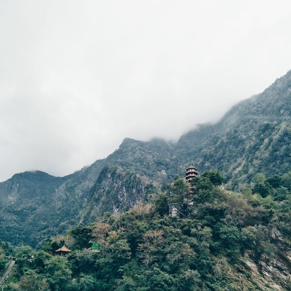 Lost In The Landscape Pagoda Taroko Taiwan Gorge Canyon Altitude Misty Cliff Limestone Marble Formations Nature Outdoors Adventure Roadtrip Bucketlist Hiking Trail Landmark Live Authentic Culture Textures Mountain HikeNhype EyeEmNewHere Connected By Travel Perspectives On Nature