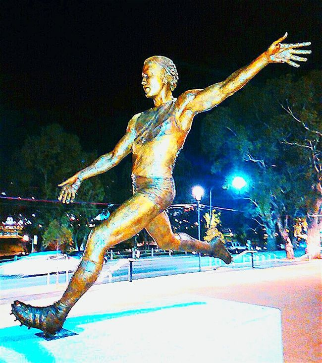 Adelaide, South Australia Statue Malcolm Blight Statues In The Park Taking Photos Check This Out AFL City Of Adelaide Australian Rules Football I Come From A Land Down Under Adelaide Oval Australian Football League Adelaide S.A. South Australia