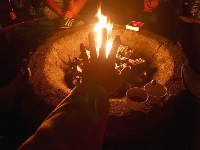 If you play with fire, you're gonna get burned. Human Hand Human Body Part Real People Flame Candle Burning Human Finger Heat - Temperature Leisure Activity Lifestyles High Angle View Night Women Human Leg One Person Indoors  Close-up Illuminated Food Men