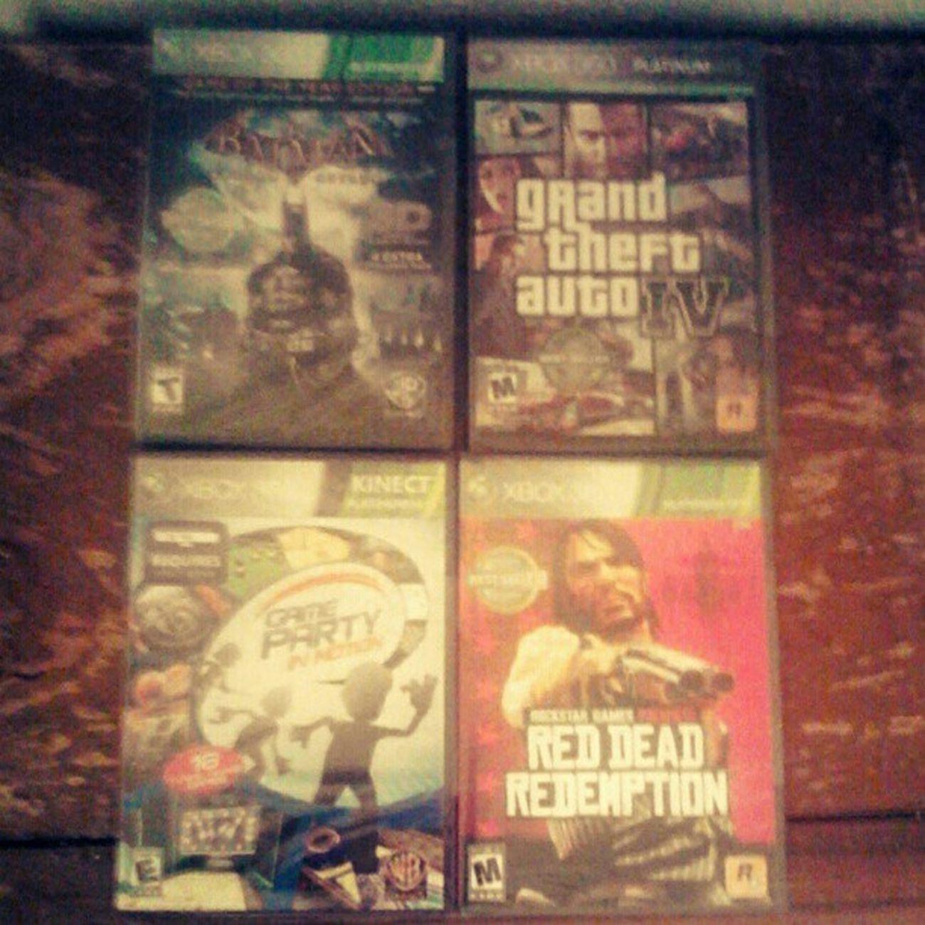 New games! #xbox #xbox360 #gamer #videogames #new Xbox Batman New Gamer Videogames Xbox360 Reddeadredemption GrandTheftAuto GrandTheftAutoIV Snapplay Hardcore_gamer_girls