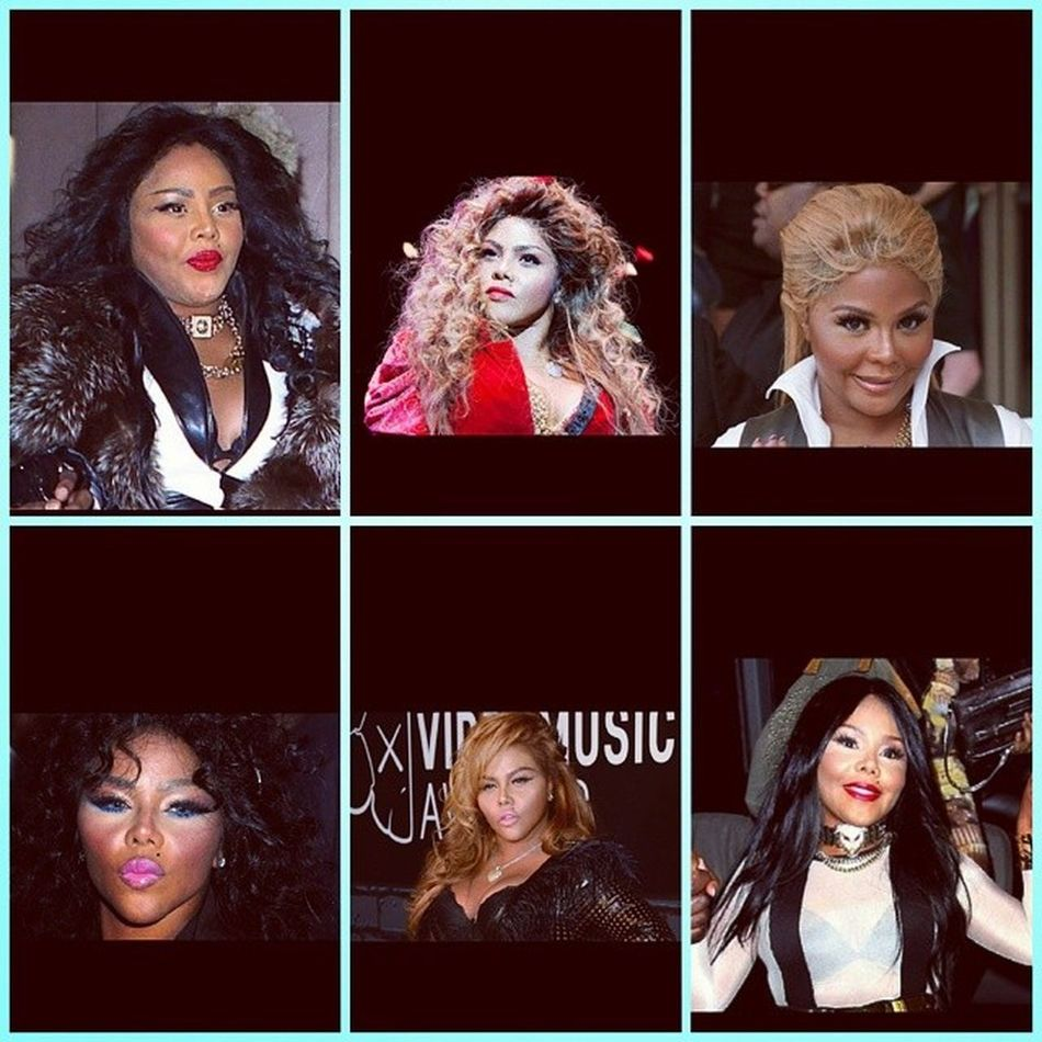 Whyyyyyyyyyy LilKim was BEAUTIFUL when she first came out why did she have to do this to herself and she says Nicki copies her...... let's see SMH LilKim go take a seat in your haters chair for the rest of your life because there's going to be PLENTY of other female rappers that WILL wear colorful wigs like you did. ????? TeamLeftEye TeamNicki