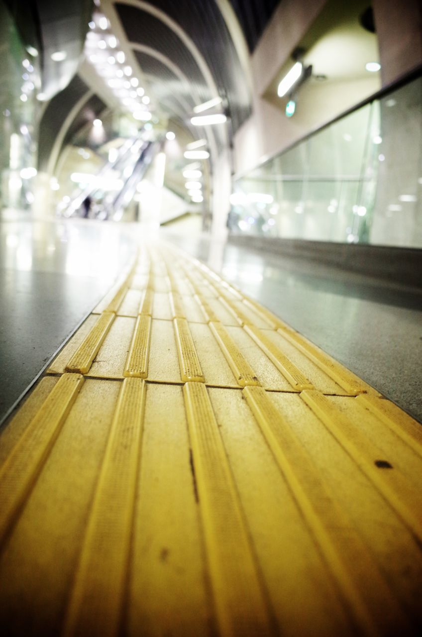 Close-Up Of Tactile Paving In Subway Station
