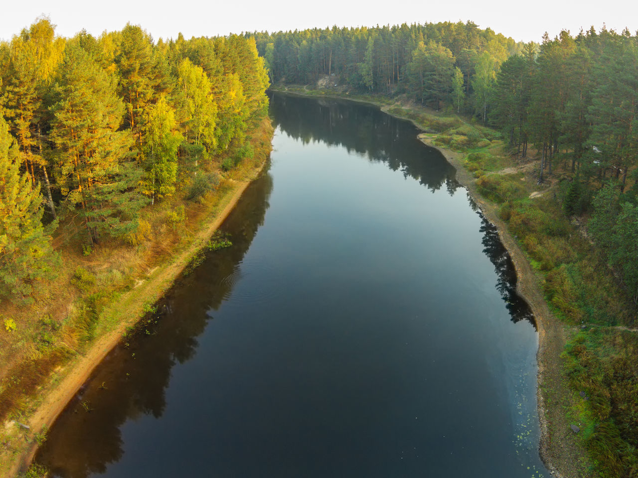 The view from the height of the river Mologa in the Tver Region. Autumn. A Bird's Eye View Aerial View Beauty In Nature Day Dji Dji Phantom Forest Grass Growth Lake Landscape Mologa Nature No People Outdoors Reflection River Scenics Top Perspective Tranquil Scene Tranquility Tree Water WoodLand