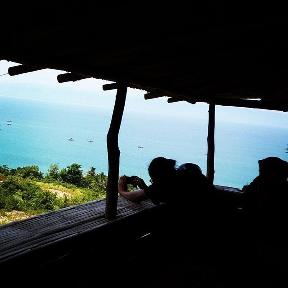 Motret Lansekap Kopitubruk Warkop Pantai Karangaji indonesia