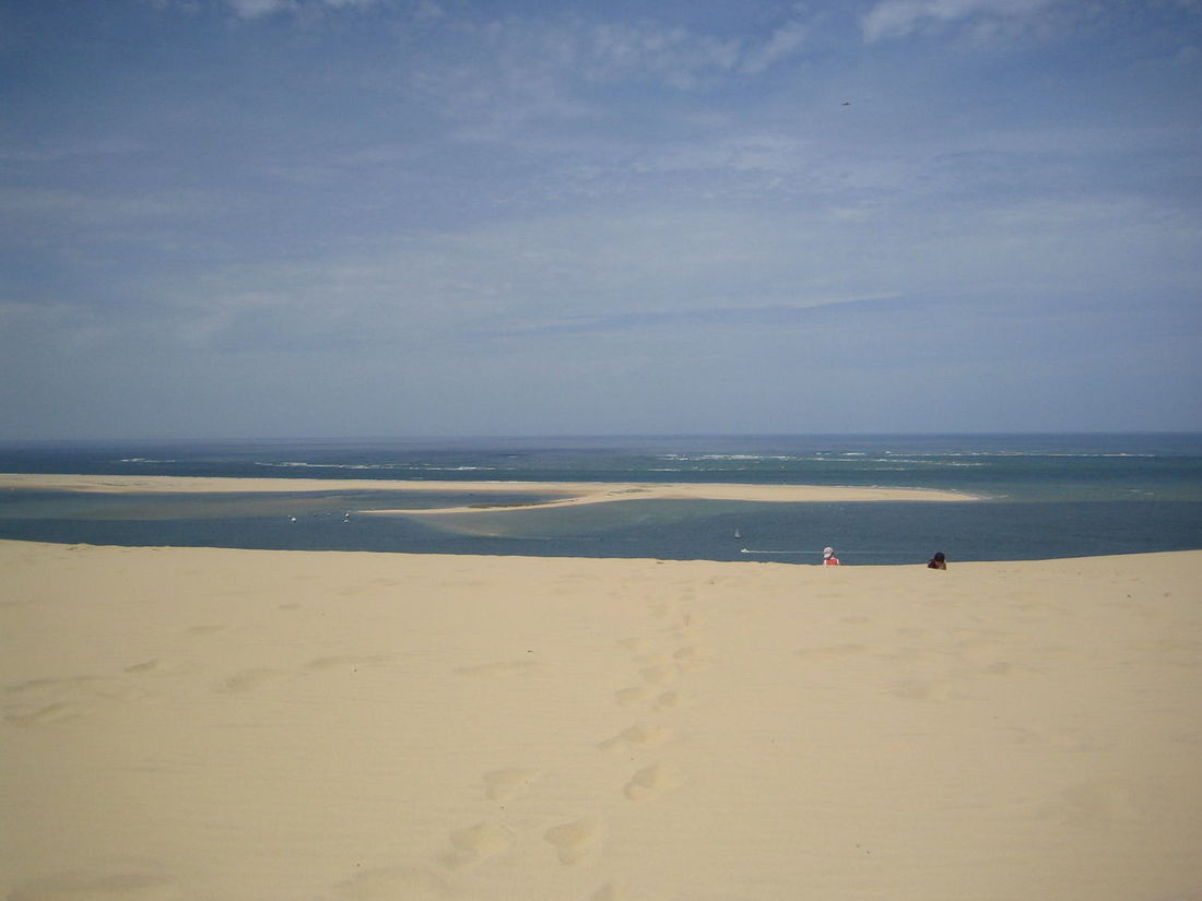 Beach Beauty In Nature Blue Dune Du Pilat Arcachon Horizon Over Water Sea Summer Vacations