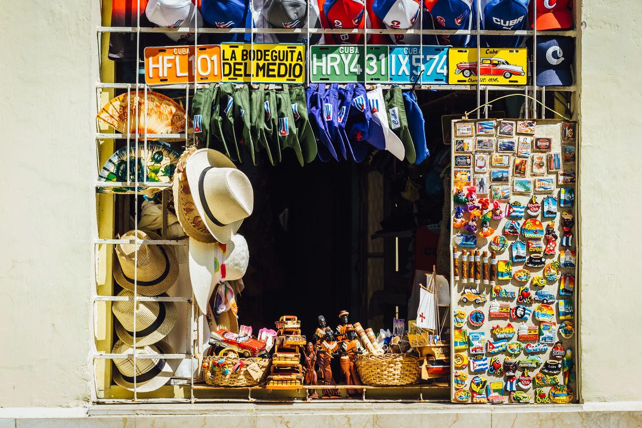 Cuba Collection Gift Multi Colored Souvenir Travel Travel Destinations Variation Window