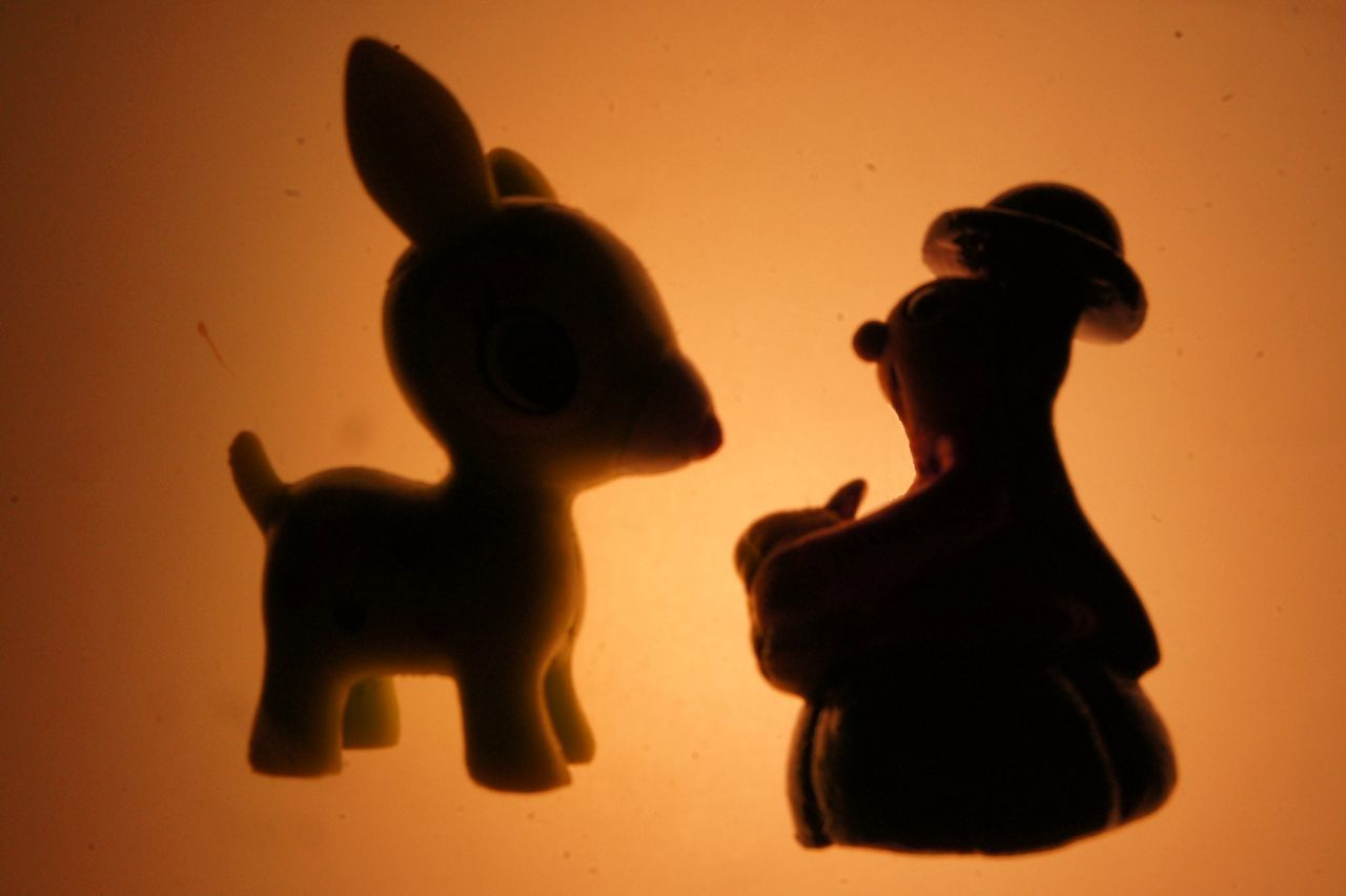 Bambi and friend Animal Representation Animal Themes ArtWork Bambi Childhood Close-up Fairytale  Figurine  Friendship Fun Indoors  Key Chain Light And Shadow Mammal Night No People Nofilter Shadow Silhouette Standing Toy Photography Toys Tranquility Urban