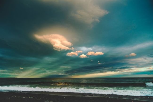 morning view - May 2016 Beach Beauty In Nature Beauty In Nature Cloud - Sky Coastline Day Dramatic Sky Horizon Over Water Horizontal Landscape Nature No People Outdoors Sand Scenics Sea Sky Spring Sunrise Sunrise_sunsets_aroundworld Sunset Sunset_collection Vacations Water Wave
