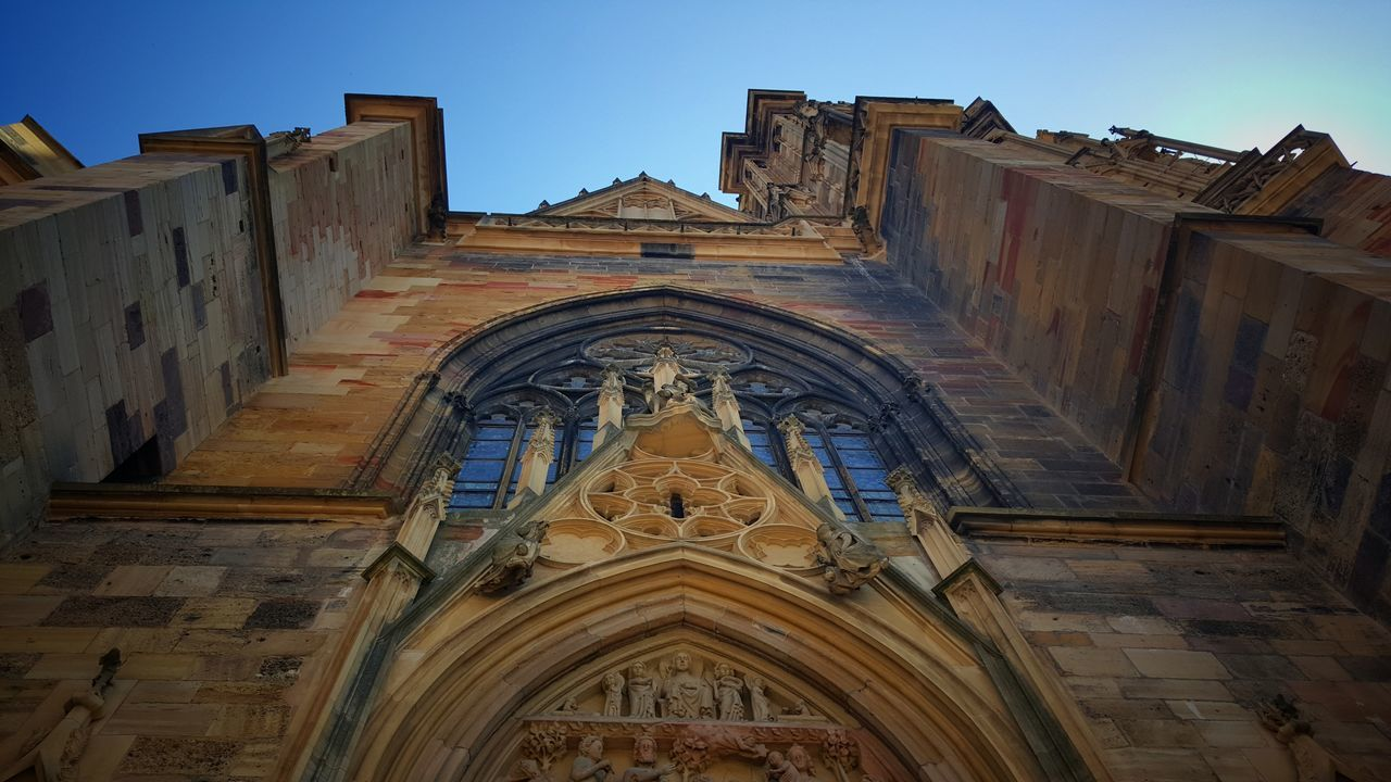 Religion Architecture Built Structure Travel Destinations History Building Exterior Low Angle View No People Outdoors Colmar, Alsace, France