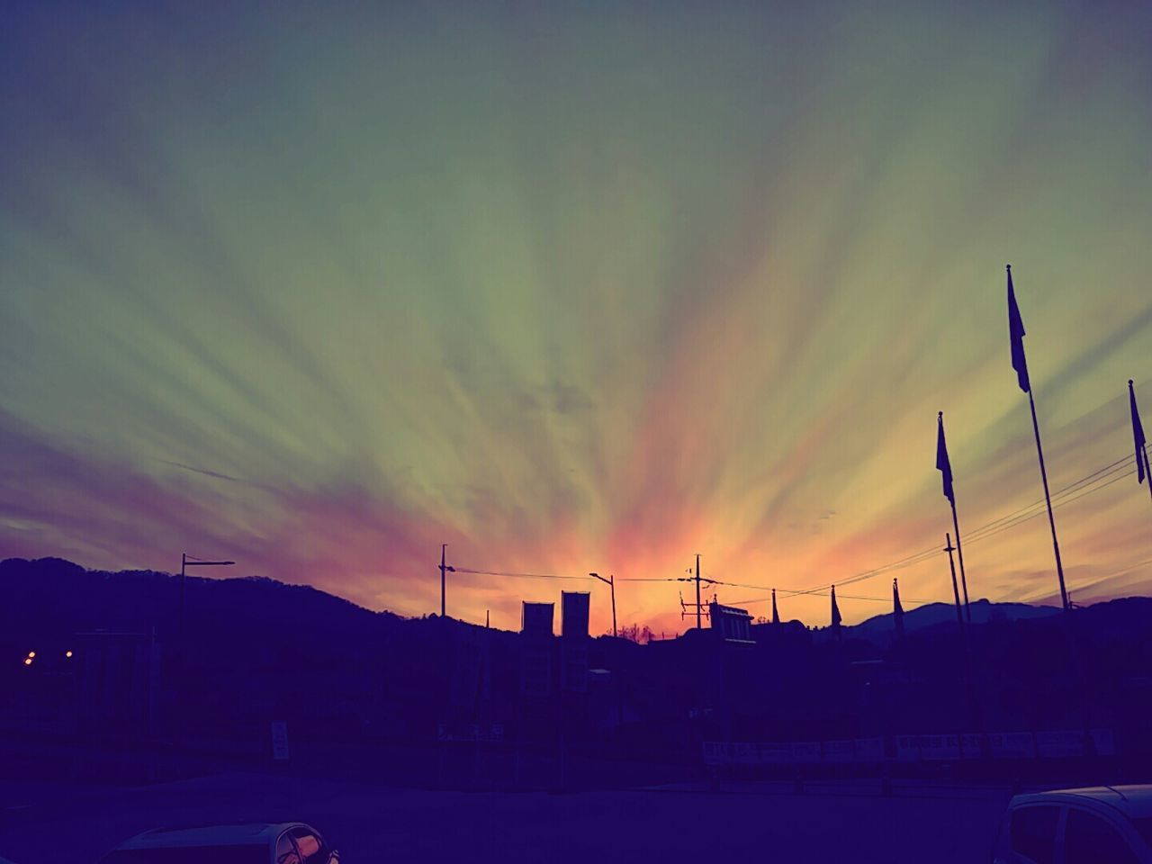 sunset, sky, silhouette, no people, built structure, architecture, cloud - sky, building exterior, nature, outdoors, beauty in nature, scenics, city, day