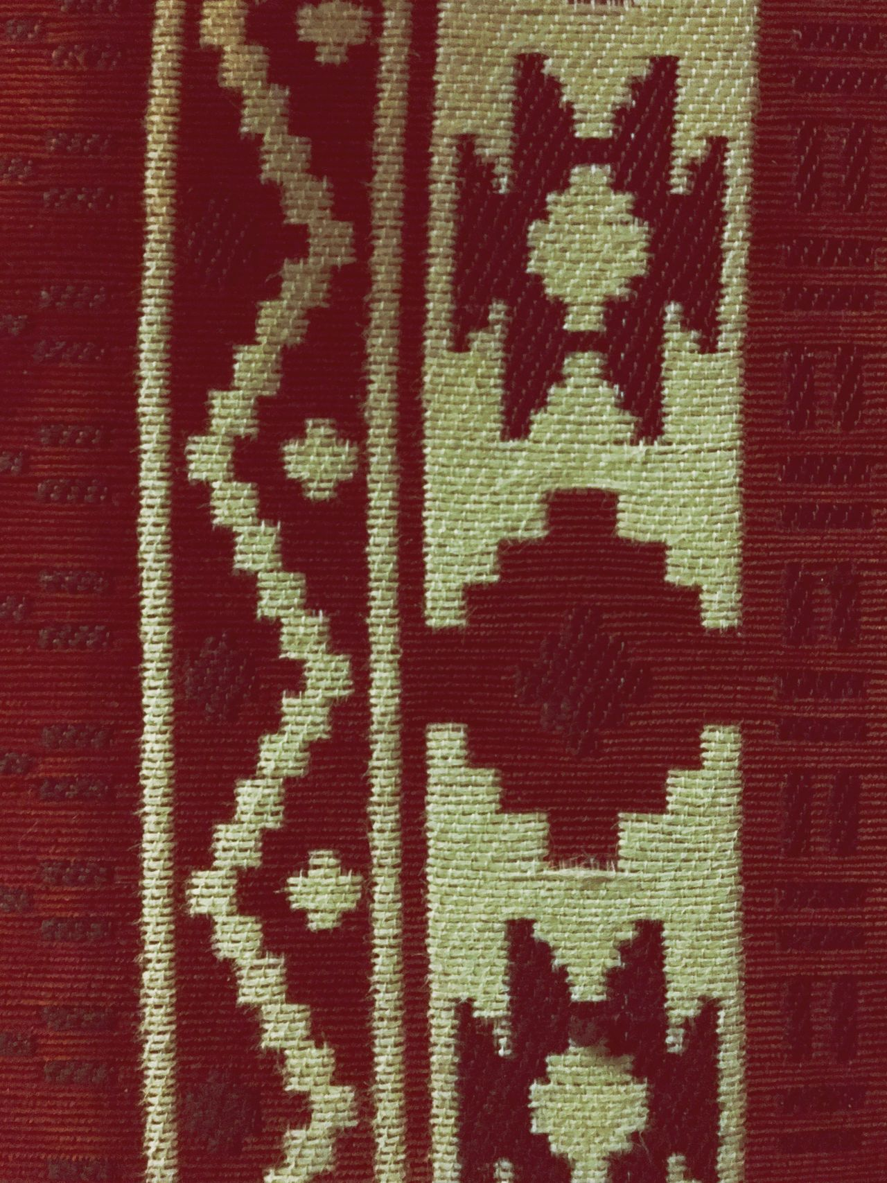 Textile Red Pattern Backgrounds No People Textured  Full Frame Close-up Indoors  Pixelated Day Arabian Culture