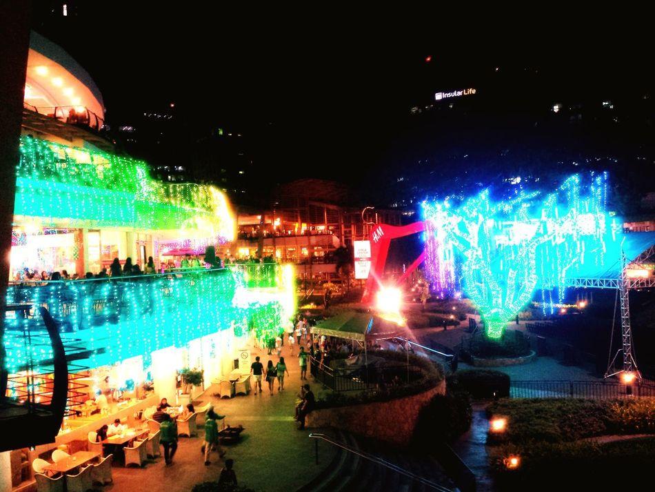 Light Em Up! Cebu Outdoors Light Nightphotography Night Lights Scenics Colors Mall Ayala Dance Of Lights