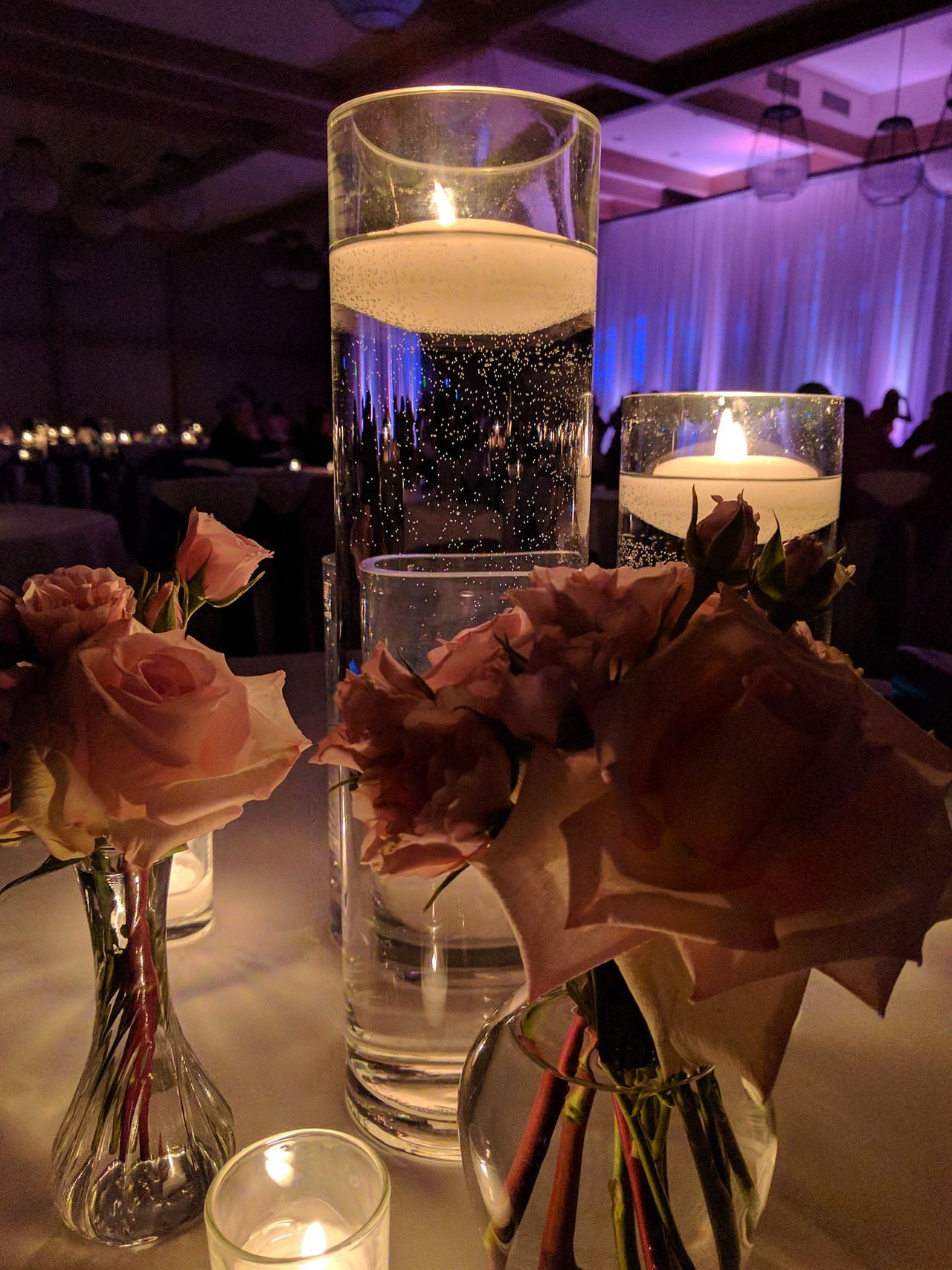 wedding reception table centerpieces and candles Low Light Photography Indoors  No People Taking Photos EyeEm Gallery Indoors  Reception Night Photography Candles Eyem Gallery Celebration Roses🌹 Roses