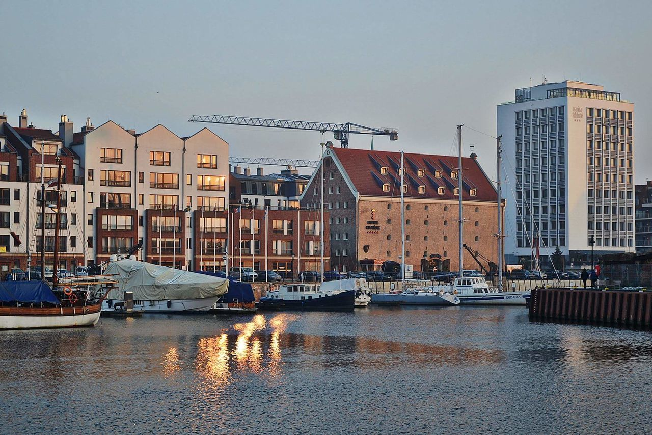 City Travel Destinations Outdoors Business Finance And Industry Bridge - Man Made Structure Urban Skyline Harbor Water No People Nautical Vessel Sky Day Beauty In Nature Children Only Gdańsk. Gdansk (Danzig) Gdansk_official Gdansk,poland Gdańskeye City Architecture Cityscape Travel