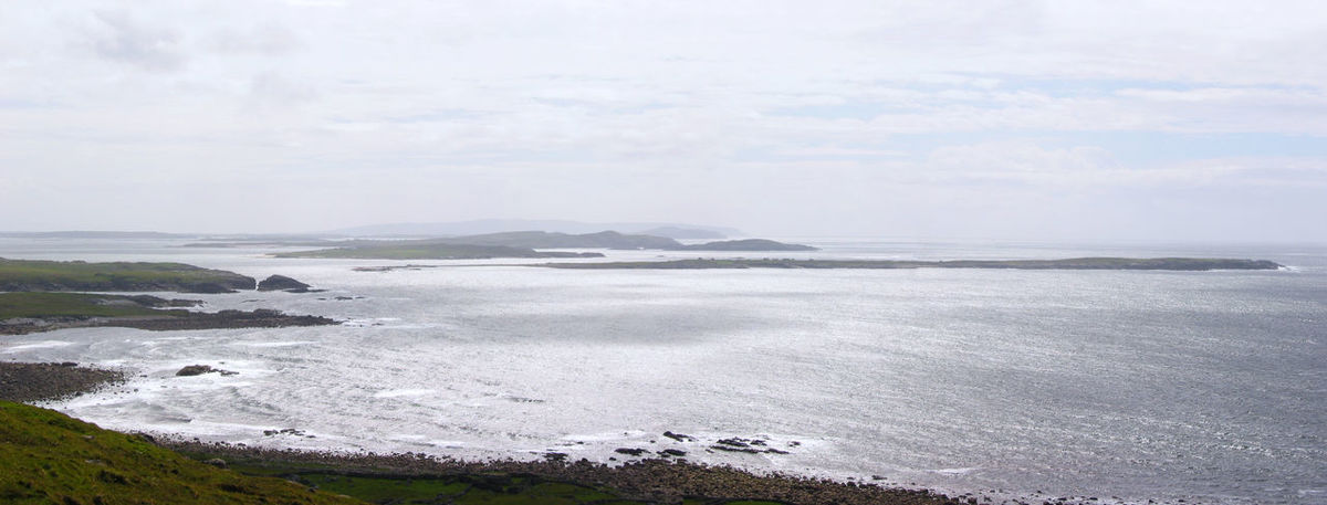 Beach Beauty In Nature Cloudy Coast Copy Space Day Donegal Ireland Landscape Nature No People Ocean Outdoors Panorama Panoramic Scenics Sea Soft Day Tranquil Scene Travel View Water