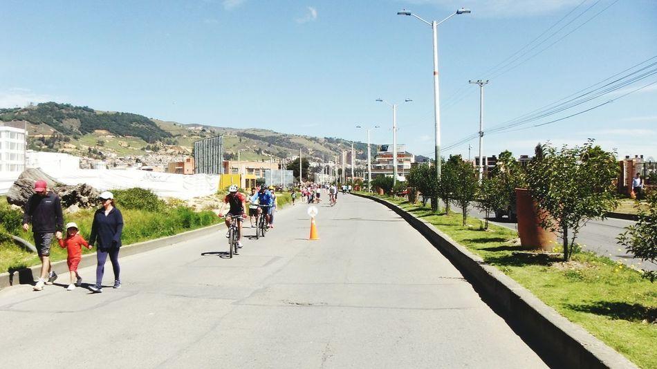 People Day Ciclismo Ciclovia  Ciclista Bicicleta Tunja, Colombia. Deporte Recreation Area Good Day :) Outdoors Sky