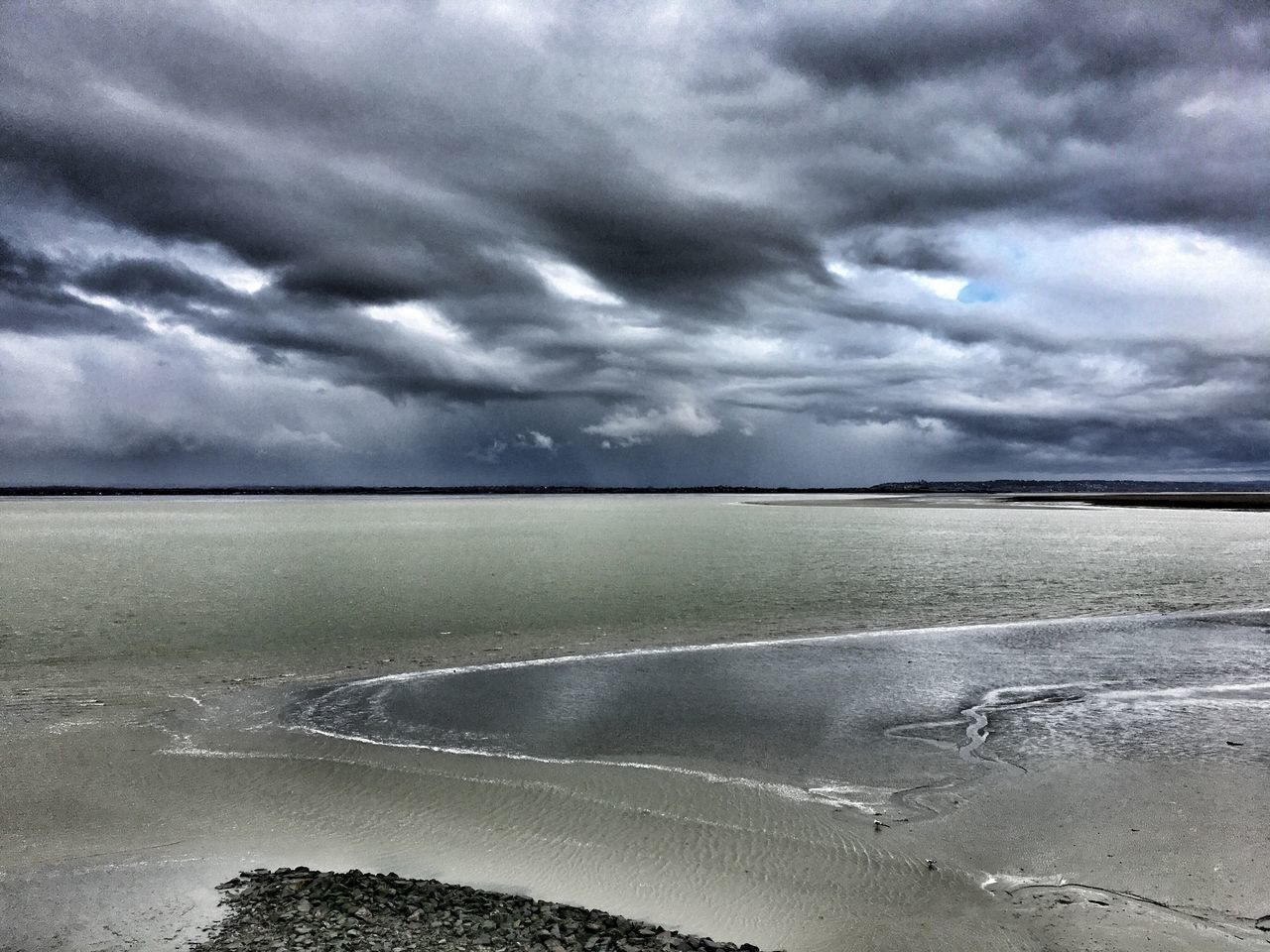 Water Nature Cloud - Sky Sea Beauty In Nature Scenics Storm Cloud Popular Photos Sky Weather No People Bretagnetourisme Bretagne Mont Saint-Michel Bay Rainy Days Mont Saint-Michel Tranquility Tranquil Scene Outdoors Beach Storm Dramatic Sky Horizon Over Water Thunderstorm Day