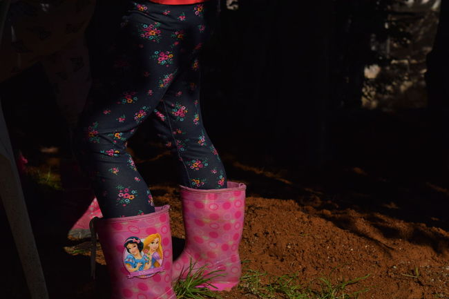 Boots Colorful Legs Pink Boots Rubber Boots Shadow