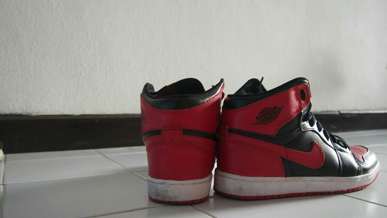 shoe, pair, no people, indoors, fashion, red, day, close-up