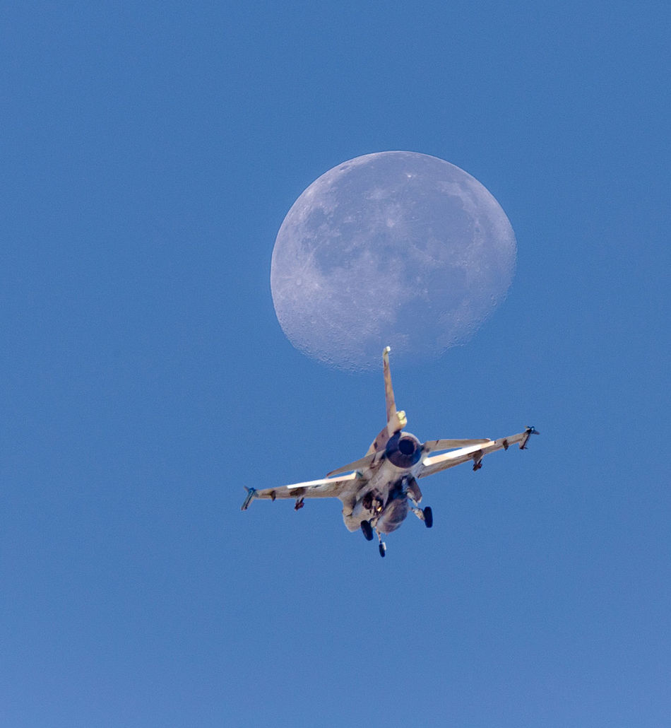 Beautiful stock photos of mond, flying, blue, low angle view, sky