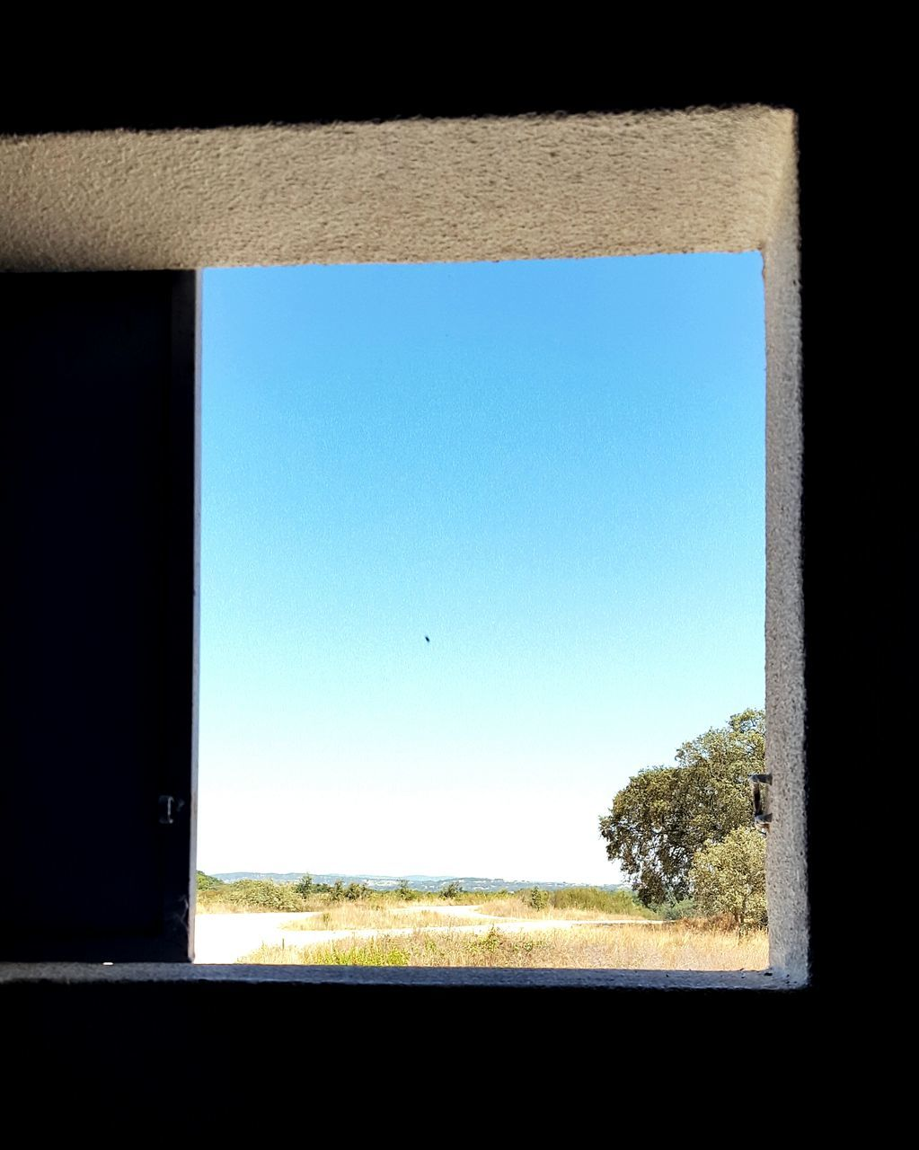 window, clear sky, day, no people, blue, nature, outdoors, sky, close-up