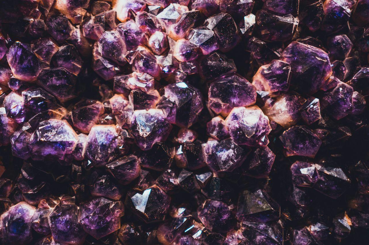 Backgrounds No People Nature Beauty In Nature Amethyst Amethyst Crystal Amethyst Geode Purple Abundance