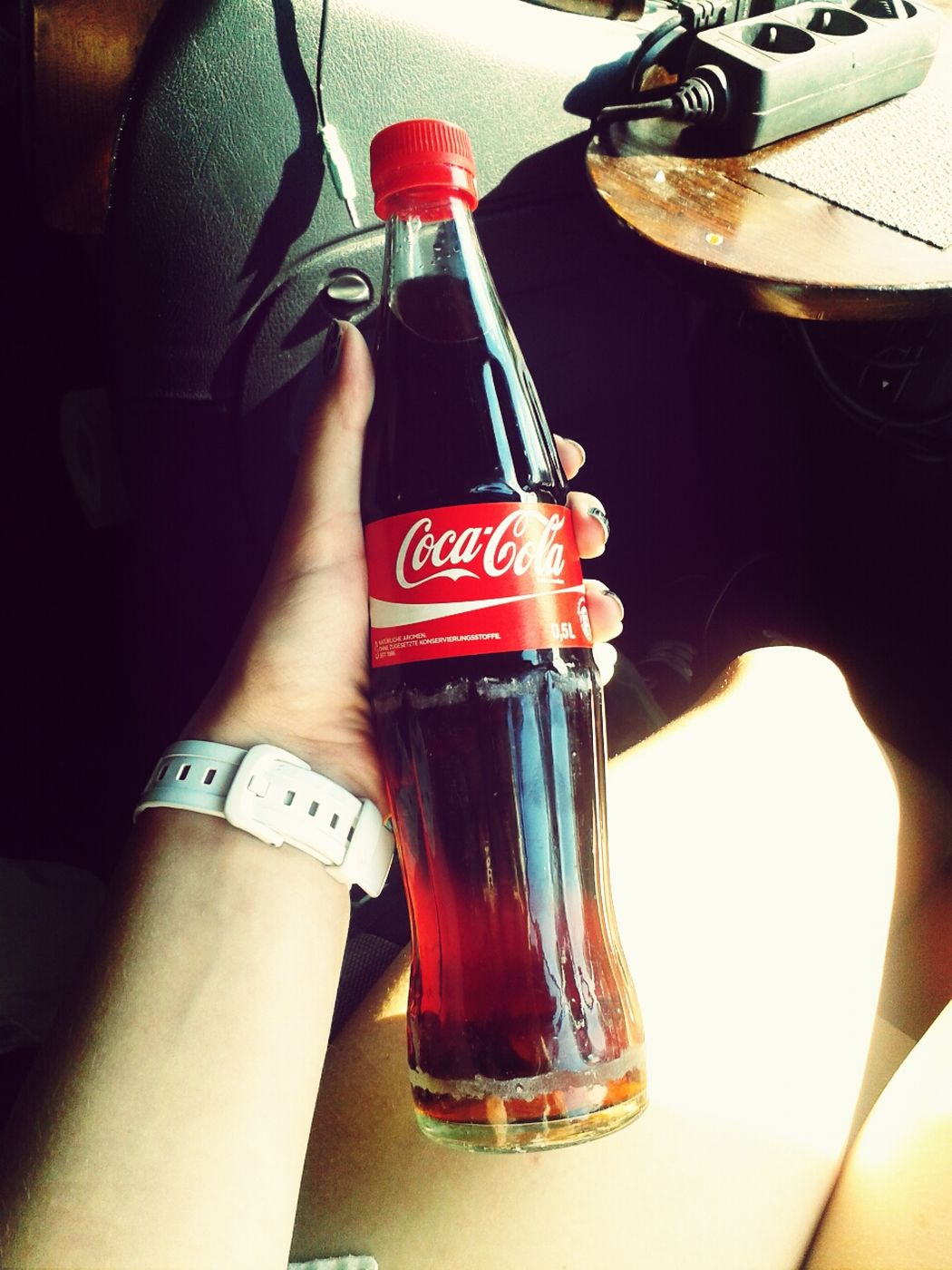 Drinking Coke Classic Listening To Music <3