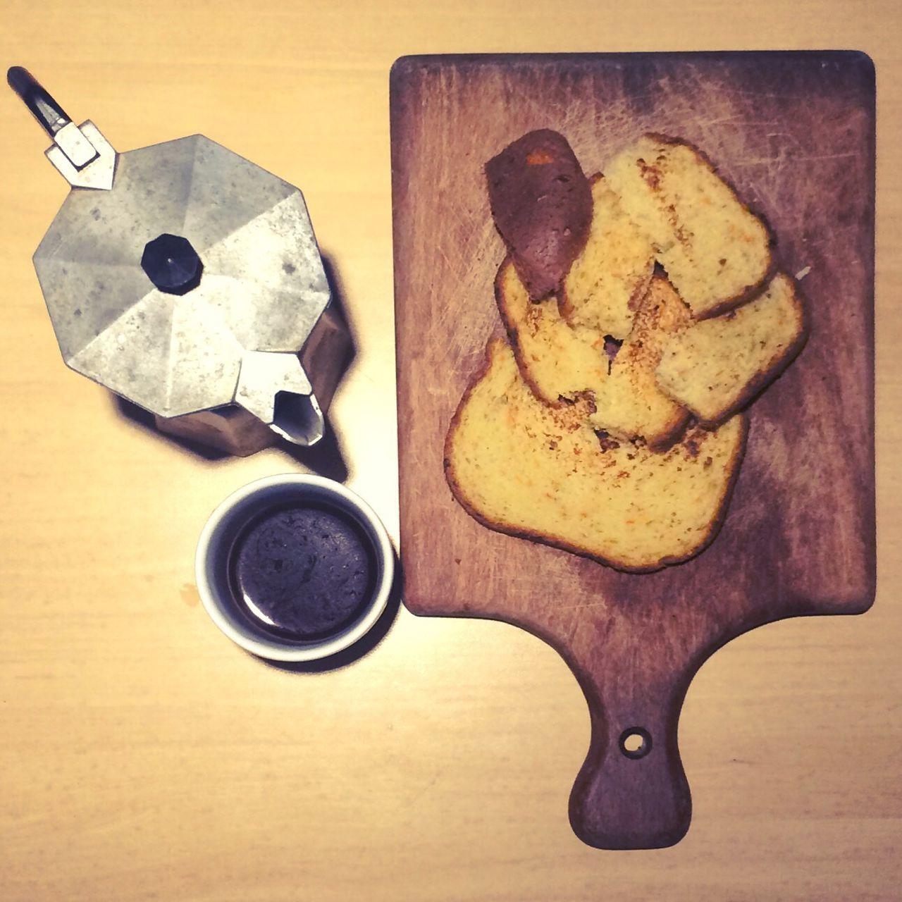 Coffee Food Food And Drink Bread Coffee - Drink Table Wood Breakfast Mocca