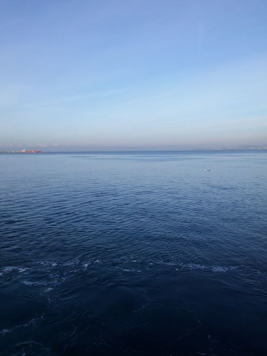Sea And Sky Blue Sea Horizon Over Water Clear Sky City Horizon Travel Destinations No People Outdoors Landscape Nature Day Beauty In Nature Water Tranquil Scene Yalova