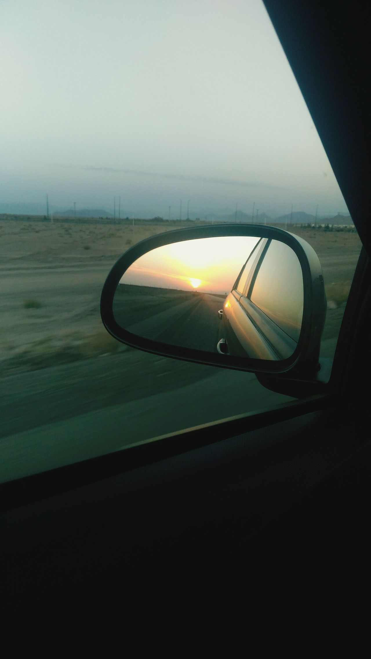 Car Transportation Reflection Sunlight Travel Sunset Mode Of Transport No People Nature Sky Side-view Mirror Outdoors Day Close-up Vehicle Mirror