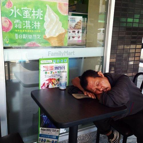 Have you ever had a dream? Homeless Ice cream Peach Familymart 水蜜桃霜淇淋 summer