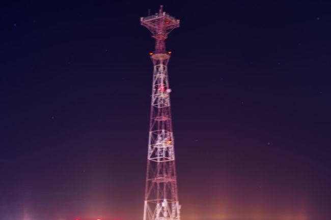 Illuminated Light Lights Night Nightphotography No People Outdoors Radio Tower Sky TV Tower Vertical