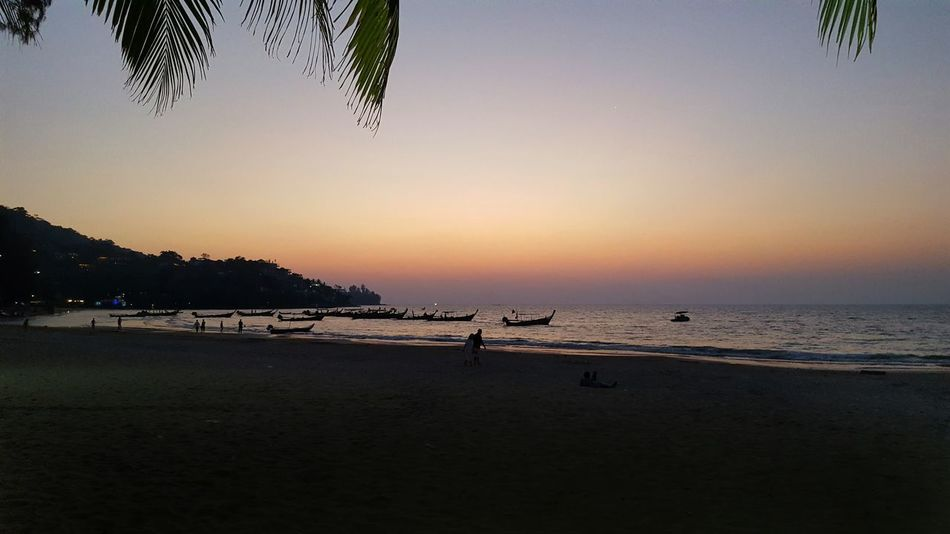 Beach Reflection Sunset Nature Sky Day Beauty In Nature Thaïlande Sea Water First Eyeem Photo