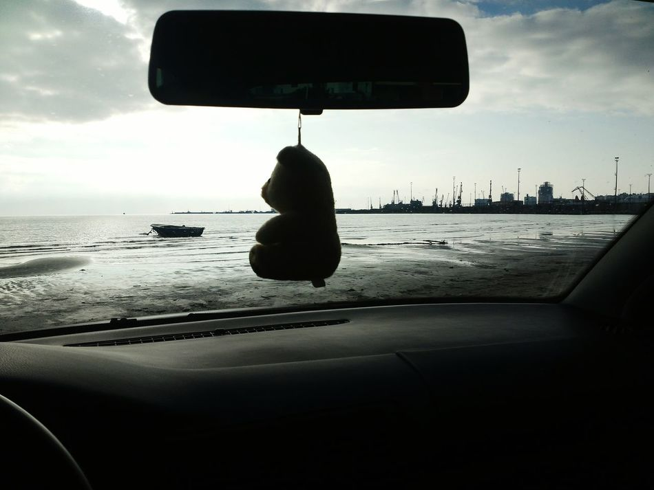 B&w Street Photography Seashore Car Driving Teddybear Insidecarshot View Sea Port Sunset Nature