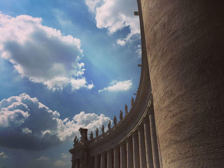 Vatican Rome Italy Architecture Petersdom Catholic Catholic Church Church Low Angle View Sky Day Outdoors History Architectural Feature No People Historic High Section White Blue Apostles Religion Christianity Christian Vatican City VaticanCity
