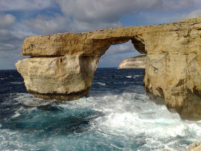 Sky_Water Beauty In Nature Feel The Journey Azzure Window at Gozo Island in Malta